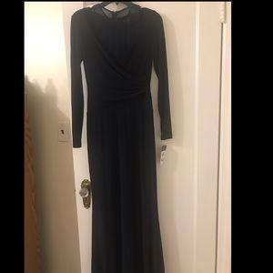BNWT - Lauren Ralph Lauren Navy Gown w sleeves